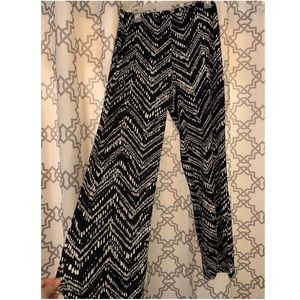 Patterned Wide Leg Pants   New Directions